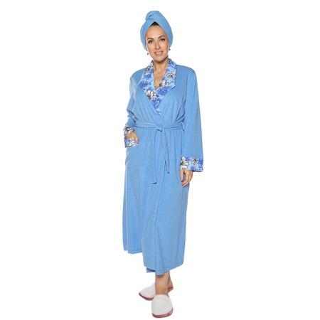 Купить Халат Алтекс «Махровое чудо». Цвет: голубой