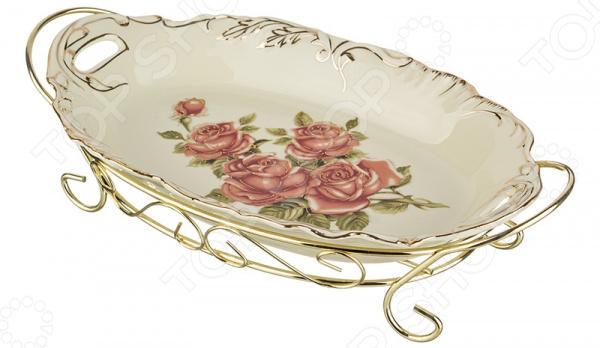 Блюдо на подставке Lefard «Корейская роза» 126-529 менажница lefard корейская роза 126 549