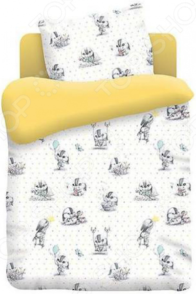 Ясельный комплект постельного белья Непоседа «Зайчата» Непоседа - артикул: 1321002
