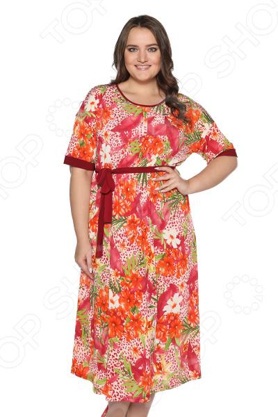 Платье Лауме-стиль «Секреты счастья». Цвет: оранжевый