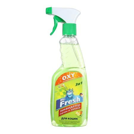 Спрей ликвидатор пятен и запаха кошек Mr.Fresh F101