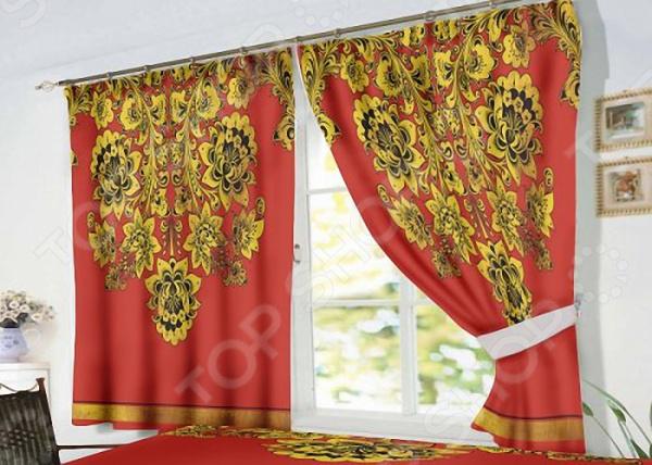 Фотошторы «Хохлома» текстиль для дома