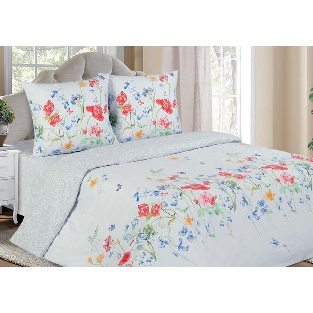фото Комплект постельного белья Ecotex с резинкой «Поэтика. Маки». Размерность: евростандарт