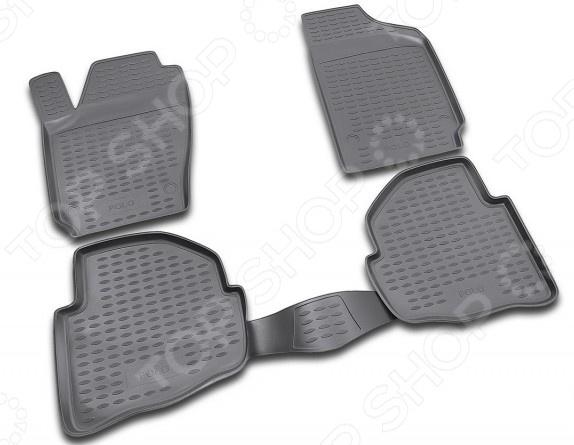 Комплект ковриков в салон автомобиля Novline-Autofamily Volkswagen Passat CC 2009 купе. Цвет: черный - фото 3