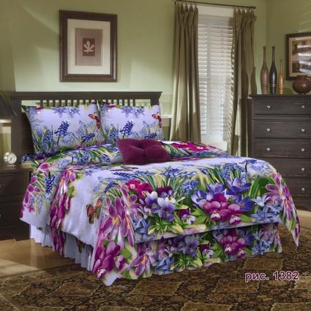Купить Комплект постельного белья Диана «Весенние цветы». 1,5-спальный