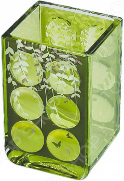 Стакан для ванной Tatkraft Acryl 3D Magic Emerald ёршик для туалета tatkraft paris mademoiselle acryl 3d