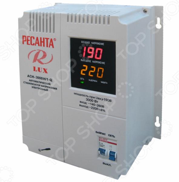 Стабилизатор напряжения Ресанта АСН 3000 Н/1-Ц Lux