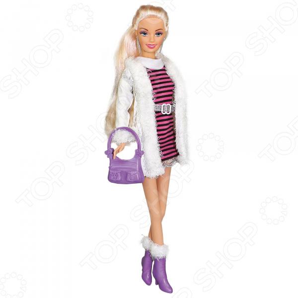 Кукла Toys Lab «Ася. Блондинка в платье и белой шубке»