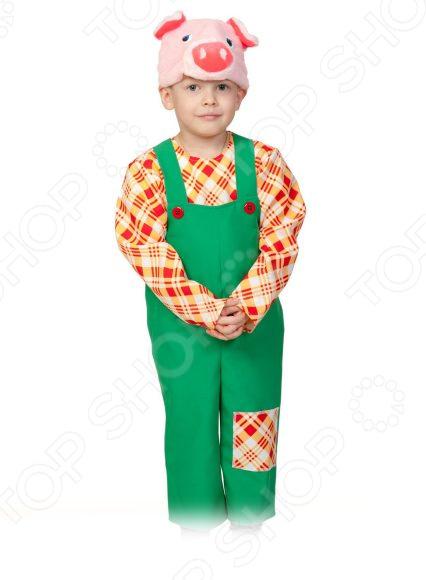 Костюм карнавальный для мальчика Карнавалофф «Теремок. Поросенок Нифф»