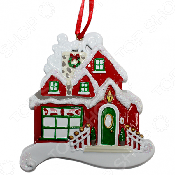 Елочное украшение Crystal Deco «Новогодний домик» 1707823