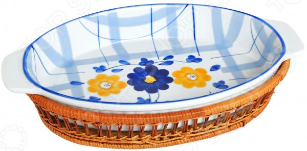 Форма для выпечки овальная Bayerhoff «Цветы»