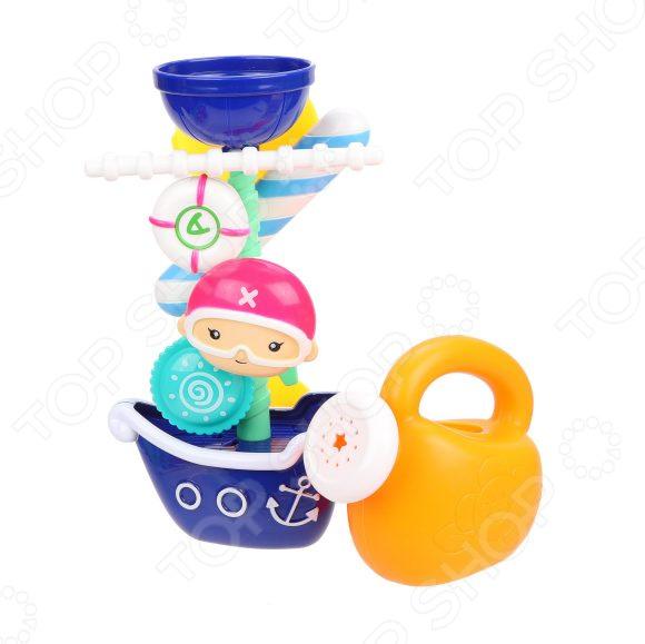 Игрушка для ванны детская Наша Игрушка «Пиратская мельница» заводная игрушка для ванны наша игрушка медвежонок m7039