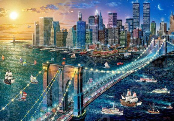 Пазл 500 элементов Castorland «Бруклинский мост»