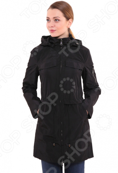 цена  Куртка Finn Flare B17-12080. Цвет: черный  онлайн в 2017 году