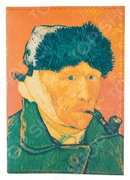 Обложка для паспорта кожаная Mitya Veselkov «Ван Гог. Портрет» mitya veselkov обложка для автодокументов ван гог портрет