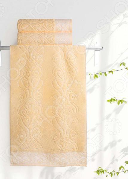 Полотенце махровое Aquarelle «Толедо». Цвет: светло-желтый
