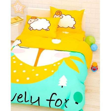 Купить Детский комплект постельного белья Сирень «Лис и барашки»