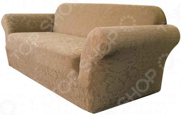 Натяжной чехол на двухместный диван Медежда «Челтон» пленка для старой мебели киев где