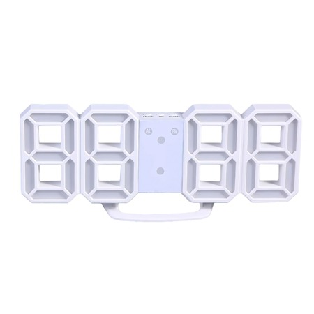 Купить Часы настенные / настольные электронные цифровые светодиодные белые