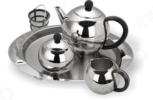 Чайный набор Vitesse Esperanza tipson империал 3 чайный набор стеклянный чайник и чай 50 г