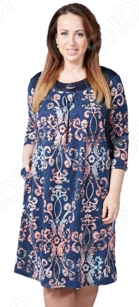 Платье Лауме-Лайн «Волшебное мгновение». Цвет: темно-синий платье лауме стиль райский сад цвет синий