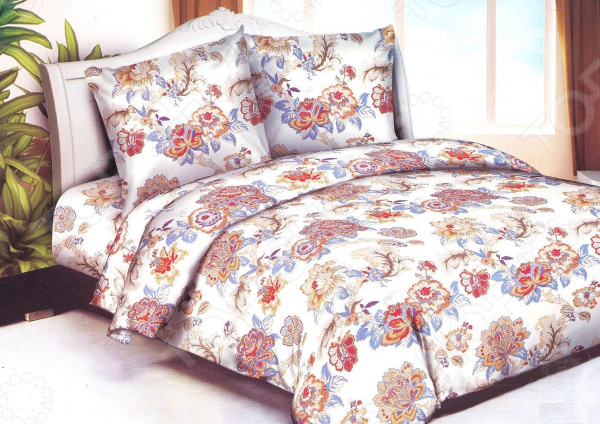 Комплект постельного белья «Сладкий сон». 2-спальный. Рисунок: розовый сад