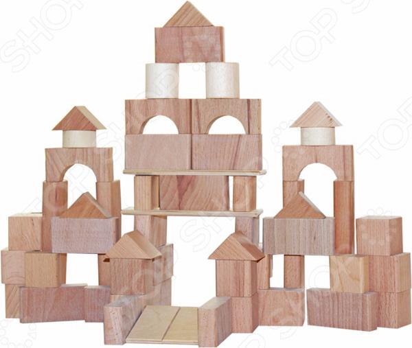 Конструктор деревянный КРАСНОКАМСКАЯ ИГРУШКА НСК-06 «Строим сами» краснокамская игрушка краснокамская игрушка конструктор строим сами неокрашенный