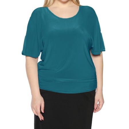 Купить Блуза Pretty Woman «Фруктовый заряд». Цвет: бирюзовый