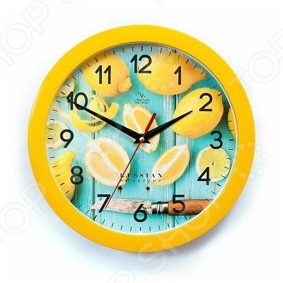 Часы настенные Вега П 1-2/7-260 «Лимоны» часы настенные вега п 4 14 7 86 новогодние подарки