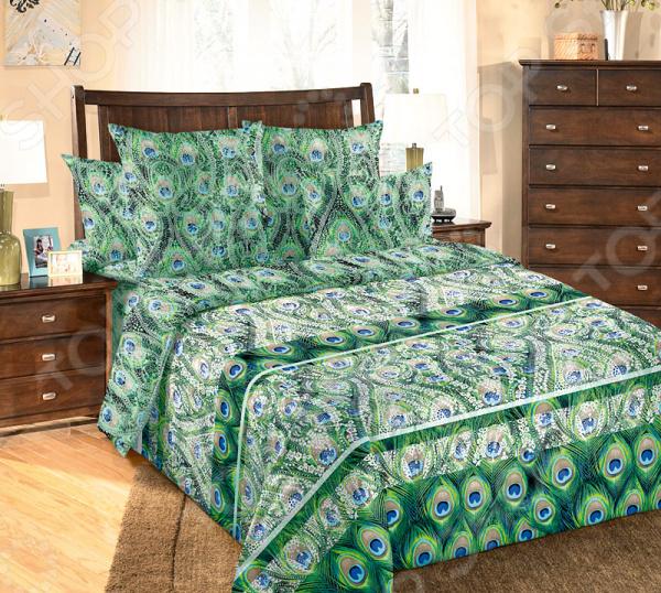цена Комплект постельного белья Королевское Искушение «Экзотика» онлайн в 2017 году