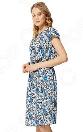 Платье Finn Flare S16-12036. Цвет: темно-синий