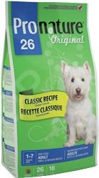 Корм сухой для собак мелких и средних пород Pronature Original 26 Classic Recipe Adult Small & Medium Breeds корм сухой pronature original 26 для собак мелких и средних пород с курицей 16 кг