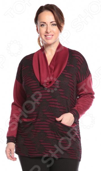 Туника Pretty Woman «Филомена». Цвет: бордовый туника матекс экзотическая птица цвет бордовый