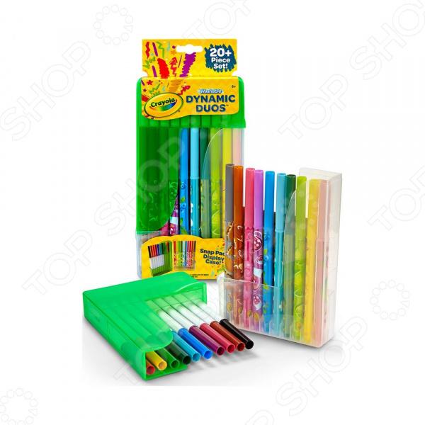 Набор парных фломастеров Crayola в пластиковой подставке