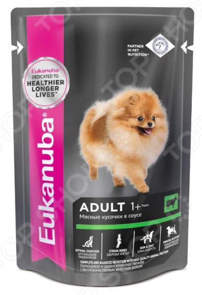 Корм влажный для собак Eukanuba Adult с говядиной в соусе