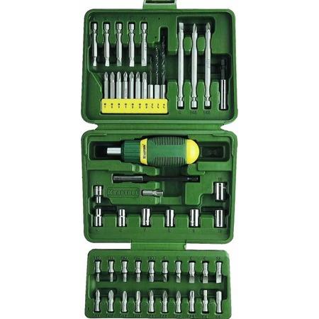 Купить Отвертка реверсивная с битами и торцевыми головками Kraftool 25556-H50