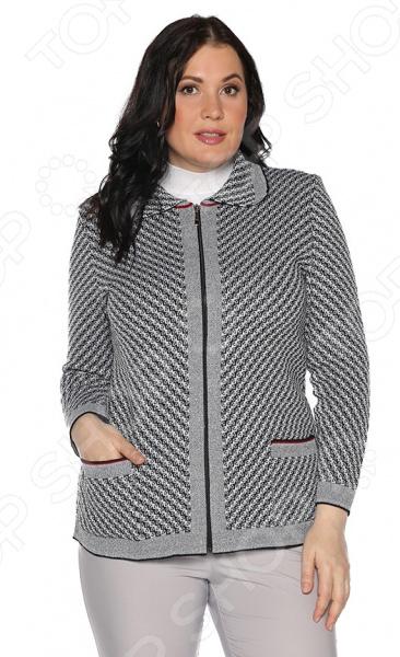 Жакет Milana Style «Душевный привет». Цвет: серый жакет milana style цвет молочный
