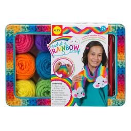 Набор для вязания аксессуаров Alex «Радужный шарф»