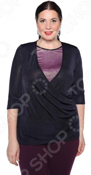 Блуза VEAS «Пылкое сердце». Цвет: синий