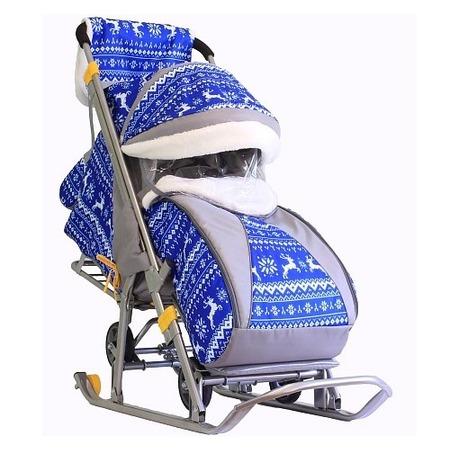 Купить Санки-коляски Galaxy Kids 1 «Зимняя ночь»