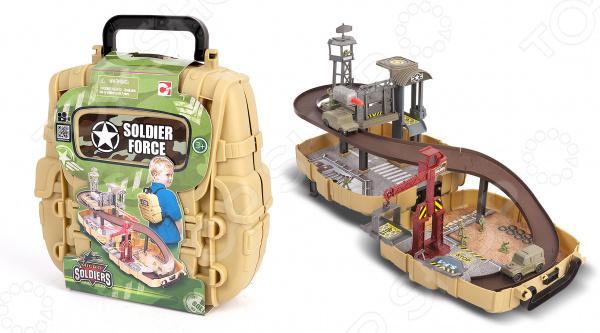 Набор игровой для гонок Chapmei «Нано-армия: Мини трек в рюкзаке с наполнением»