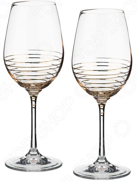 Набор бокалов для вина Bohemia Crystal Spiral 674-549 набор бокалов crystalex джина б декора 6шт 210мл шампанское стекло