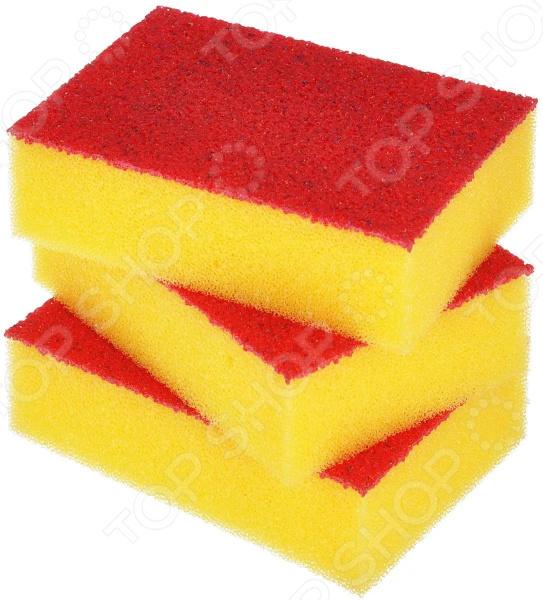 Набор губок для мытья посуды Хозяюшка «Мила: Люкс» набор губок для мытья посуды york 3 шт
