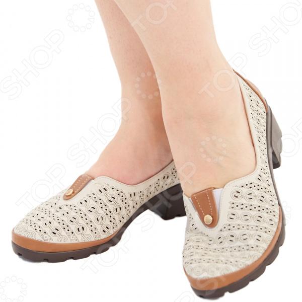 Туфли Эго «Мадам Софи». Цвет: бежевый