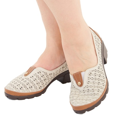 Купить Туфли Эго «Мадам Софи». Цвет: бежевый