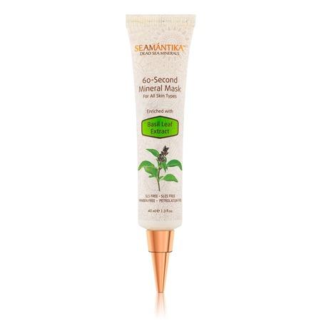 Купить Минеральная маска Seamantika «60 секунд» с экстрактом листьев базилика для всех типов кожи