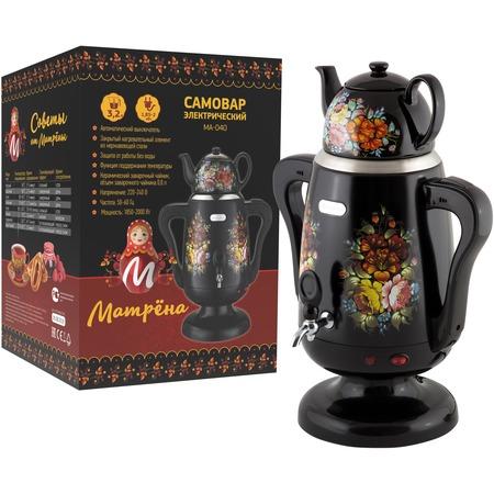Купить Самовар электрический и заварочный чайник «Хохлома». Объем: 3,2 л, 800 мл