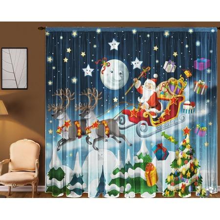 Купить Фототюль ТамиТекс «Санта-Клаус»