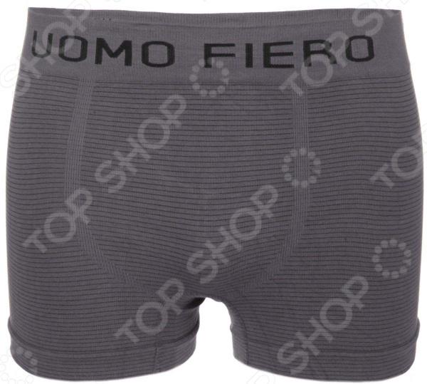 Трусы-боксеры Uomo Fiero 024 FH. Цвет: серый