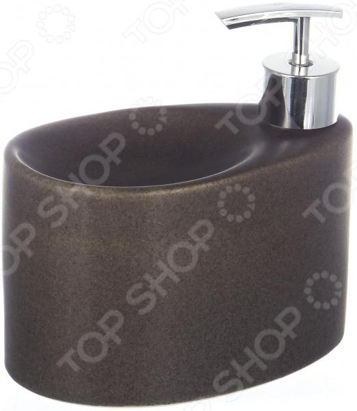 Диспенсер для жидкого мыла с губкой Elrington «Крошка. Графит» FJH-10772